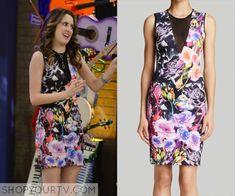 Austin & Ally: Season 4 Episode 6 Ally's Floral Bodycon Dress