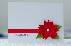 Poinsettia Love Peace Joy