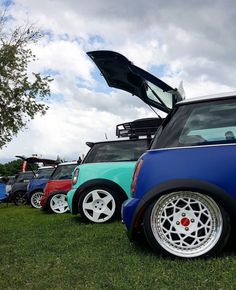 Love all the different color & wheel combos right next to each other