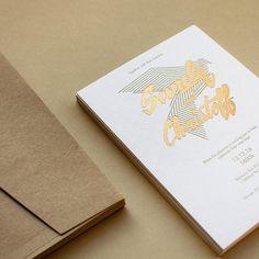 We love seeing a letterpress, foil combination print at Paperlust. Foil Stamped Wedding Invitations, Letterpress Wedding Invitations, Modern Wedding Invitations, Geometric Heart, Engagement Invitations, Geometric Wedding, Craft Wedding, Wedding Trends, Event Design