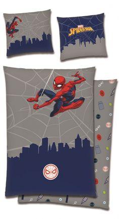 SpiderMan sengesett - 140 x 200 cm Spiderman Bed, Ikon, Nest, Flag, Nest Box, Science, Icons, Flags