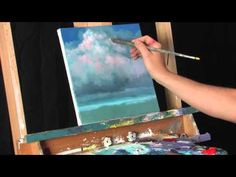 Gathering Steam - Time Lapse Acrylic Landscape Cloud Painting by Tim Gagnon - YouTube