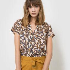 Blouse imprimé tropical, couleur chaude pour l'été !   #safarichic #paréepourlété