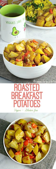 Roasted Breakfast Potatoes (vegan, gluten free) from Veggies Save The Day