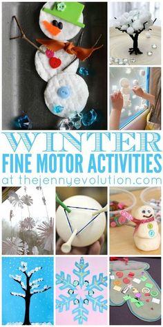 Fine Motor Winter Activities for Preschoolers