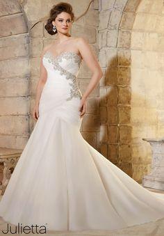 Mori Lee Plus Size Wedding Dress 3187
