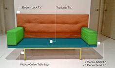 DIY sofa with IKEA LACK tv unit!