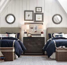 A Heartful Home: {31 Days of Coastal Style} Coastal Color Schemes: Nautical Navy
