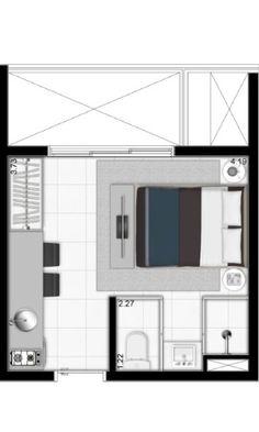 'Uma vida simples é mais feliz', diz arquiteto de apartamento de 19m² - Notícias…