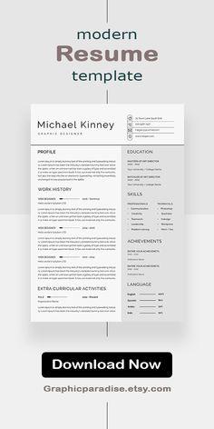 Google Docs Resume Template | Google Docs CV Template | Google Resume