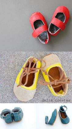 DIY Baby Shoes : DIY Leather Baby Shoes