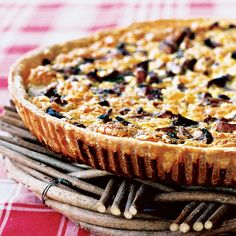 Mushroom and Ham Quiche | Food & Wine - Cheat: use store bought pastry dough.