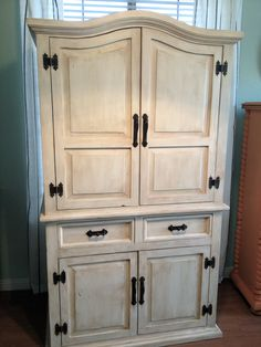 I Have An Armoire That Is A Good Solid Piece, But The Hardware And Stain  Are Outdated. I Wonder If I Should Paint Or Restain?