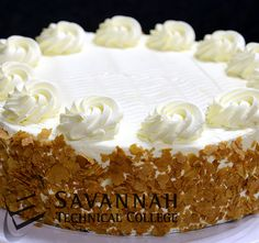Carrot Cake with Cream Cheese Frosting by Savannah Technical College Student Chefs. For more student chef creations like FB/ChefJeanVendeville. Here's the recipe www.facebook.com/photo.php?fbid=387464404664209=a.266969730047011.62968.266939710050013=3