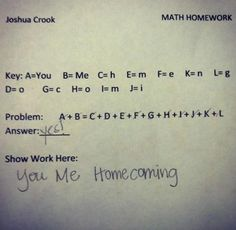 Cute way to ask someone to HC!