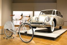 Art bike by Handsome Cycles at the Minneapolis Institute of Arts- Inspired by a 1948 Tatra T87 sedan