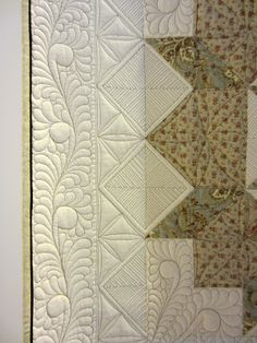 Hand guided freemotion quilting by Kay Bell, photo by Sandra Montgomery