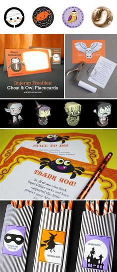A bunch of FREE halloween printables