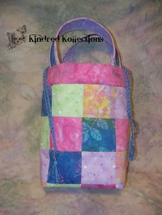 Spring Patchwork Tote by KindredKollections on Etsy, $28.00