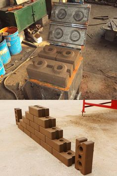 soil interlocking bricks produced by small manual earth compressed block machine Rammed Earth Homes, Rammed Earth Wall, Brick Molding, Brick Paneling, Barrel Stove, Earth Bag Homes, Interlocking Bricks, Natural Architecture, Home Insulation