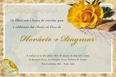 Convite de bodas de ouro moderno continue vendo...