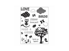 "Art Warehouse Clear Stamps 4""X9"" Sheet-Whoo Loves You"