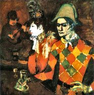 Lapin agile (harlequin with glass), 1905 Pablo picasso - Rose Period Kunst Picasso, Art Picasso, Picasso Paintings, History Of Modern Art, Art History, Moma, Picasso Rose Period, Illustration Photo, Illustrations