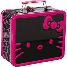 Hello Kitty Giant Black/Pink Face Lunchbox Black/Pink