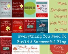 Free Blogging Book Bundle. Everything you need to build a successful blog, by Blogelina.