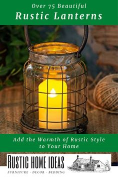 Rustic lanterns are a great for all seasons and holidays. View our large selection of rustic lanterns and get inspired to create new seasonal and holiday tables capes today!!! Rustic Lanterns, Holiday Tables, Capes, Rustic Style, Invitation Design, Furniture Decor, Candle Holders, Seasons, Holidays