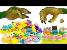 Bergen Attack At Shopkins Small Mart Store Destroys Food Puzzle Erasers with Trolls, My Little Pony - YouTube