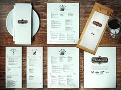 "Especially like the idea of a ""snacks"" page. Bluebeard Restaurant menu designs"