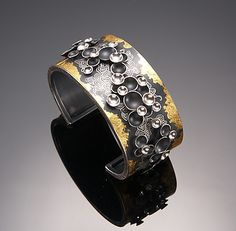 """""""Oriental Hill Cuff"""".  Gold & Silver Bracelet.  So Young Park"""