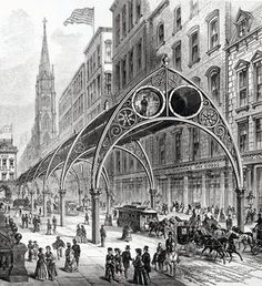 Gilbert's elevated railway, 1870