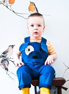 Puppy dog dress up dungaree. by wildthingsdresses on Etsy, $62.00