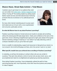 It's a big launch day around here. I relaunched FocusOnStyle.com and found myself featured in a post from THE launch expert Anne Samoilov!    You can read her post here: http://www.annesamoilov.com/social-proof-means-dont-listen-to-me/  BUT, more important, her genius class http://fearlesslaunching.com/enroll/ is closing tomorrow.     I highly suggest you get on the bandwagon if you want to make a difference in your business.