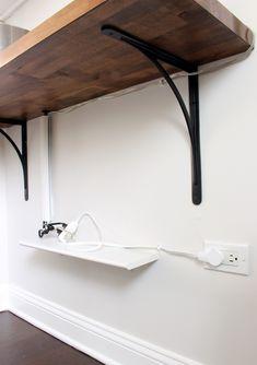 Kitchen Progress: Butcher Block Shelf – Project Palermo Ikea Corner Desk, Ikea Cart, Palermo, Shelf, Kitchen, Home Decor, Shelving, Cooking, Decoration Home