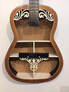 Guitar Shelf # 60. Recycled acoustic guitar with custom shelves. by aRRtstudios on Etsy