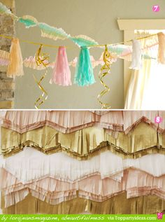 different ways to decorate with streamers