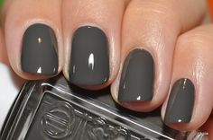 essie Charcoal Gray