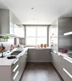 on u shaped kitchen design with a very small apartment