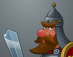"""Check out new work on my @Behance portfolio: """"Russian warrior with sword and shield"""" http://on.be.net/1IEkpNC"""