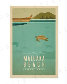 Maluaka beach in Makena, Maui is beautiful above the surface, but what is below makes this beach even better!    ABOUT THE PRINT    Print is