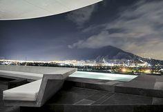 Outdoor area of Habita Monterrey – Design Awards 2010, Best New Hotel, Wallpaper