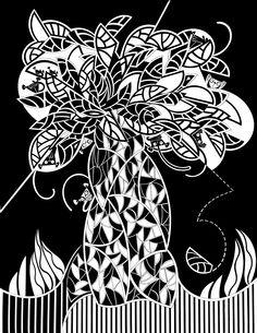 Monkey's  Tree - Bico de Pena sobre papel