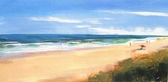 "Beach day by craig mooney Oil ~ 24"" x 48"""
