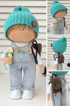Boy doll Handmade doll Fabric doll Textile by AnnKirillartPlace