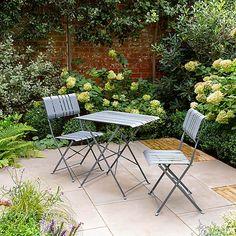 Amsterdam 2 Seater Metal Bistro Set   Dunelm Garden Sofa, Garden Furniture, Outdoor Furniture Sets, Patio Design, Garden Design, Curtains Dunelm, Silver Lanterns, Lush Lawn, Royal Garden