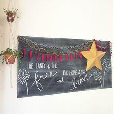chalkboard idea.