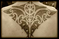 Custom New Zealand Kirituhi Ta Moko Pacific Tribal Maori Back Shoulder Tattoo Design Red Tattoos, Feather Tattoos, Foot Tattoos, Tribal Tattoos, Maori Tattoos, Polynesian Tattoos, Tatoos, V Tattoo, Back Tattoo